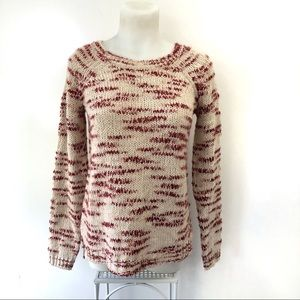 The Limited Sweater Crew Neck Red Knit Small
